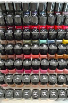 Organized Chanel nail polish