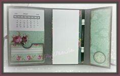 Notizbüchlein mit Kellnerblock und Minikalender