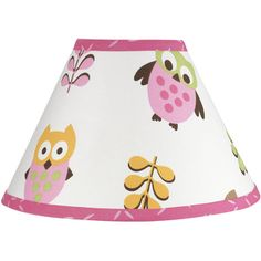 @Overstock.com - Sweet JoJo Designs Happy Owl Pink Lamp Shade - This cutesy owl nursery lampshade is a hoot and a half and is bound to make you smile. It is designed to coordinate with the Happy Owl nursery collection from Sweet Jojo Designs and it features a cheery owl friends on a field of white with pink trim.  http://www.overstock.com/Baby/Sweet-JoJo-Designs-Happy-Owl-Pink-Lamp-Shade/7599963/product.html?CID=214117 $25.99