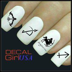 Sagittarius Nail Art Decals 32 Sagittarius Zodiac by DecalGirlUSA, $3.85