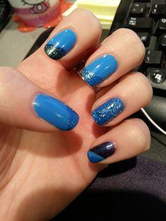 Blues nail design