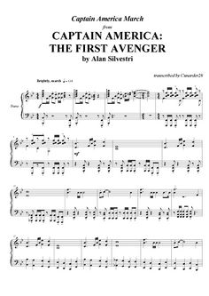 Captain America: The First Avenger - March - Alan Silvestri | Piano Plateau Sheet Music