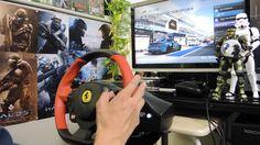 [28] Xbox One Forza 6  Thrustmaster Ferrari 458 Spider Racing Wheel Game...