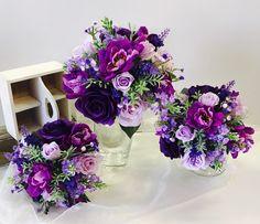 Purple Wedding Bouquets, Wedding Flowers, Floral Arrangements, Brides, Floral Wreath, Wreaths, Decor, Floral Crown, Decoration
