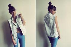 Kolejna stylizacja z naszymi rzeczami! Tym razem w roli głównej: Dajana w naszej kamizelce. ♥    Więcej zdjęć na: http://daajaa.blogspot.com/2012/07/kurtki-jeansowe-znow-modne.html/kurtki-jeansowe-znow-modne.html