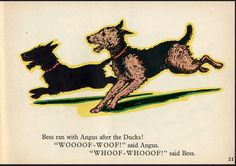ANGUS AND WAG-TAIL-BESS / Marjorie Flack /1973 Welsh Terrier, Airedale Terrier, Scottish Terrier, Terrier Dogs, Dog Books, Dog Logo, Child Love, Scottie Dog, Dog Stuff