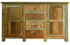 Classic Home Furniture - Vintage Print Block 2 Door 4 Drawer - Outdoor Dining Furniture, Rustic Furniture, Vintage Furniture, Painted Furniture, Furniture Design, Furniture Ideas, Furniture Chairs, Beige Wall Colors, Classic Home Furniture