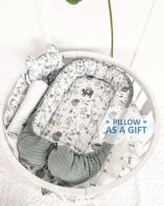 The baby nest will become your reliable assistant for newborns. Put it in a crib, in a parents bed, so that the baby is always with you, or wherever you need it, as this is a separate full-fledged sleeping place for your small angel. It is reliable, has the optimal size, soft and beautiful. Provides Quartz Lamp, Baby Nest, Minky Blanket, Handmade Baby, Baby Gifts, Pillows, Newborns, Crib, Separate