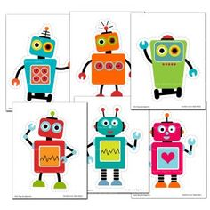 Birthday Flags, Happy Birthday Banners, Robot Classroom, Maker Fun Factory Vbs, Robot Theme, Adornos Halloween, Diy Party Decorations, Party Printables, Art For Kids