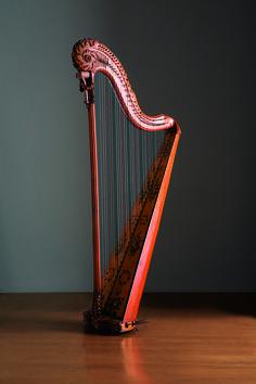 Single action pedal harp - sabots/crochets system - Naderman - France, Paris, 1780 - Museo dell'Arpa Victor Salvi