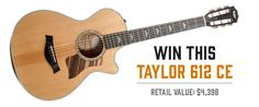Sign up and win the Taylor 612ce Giveaway on Reverb.com!