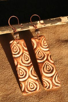 Love these!  Earthy+Bohemian+Bliss+Ceramic+Earrings+by+CaliforniaSoulshine,+$30.00