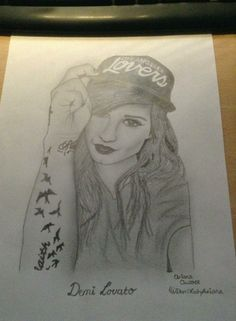 Demi Lovato drawing Pencil Drawings, Art Drawings, Princess Protection Program, Sonny With A Chance, Demi Lovato Pictures, I Am A Queen, Sketch Ideas, Beautiful Artwork, Make Me Smile