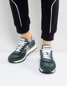 timeless design 8cc58 b0e0f Shop Saucony Jazz Original Vintage Sneakers In Navy at ASOS.