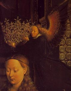 Jan van Eyck, The Virgin of Chancellor Rolin (detail), 1435