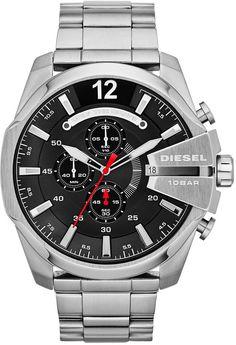 Diesel Watch, Men's Chronograph Mega Chief Stainless Steel Bracelet 59x51mm DZ4308