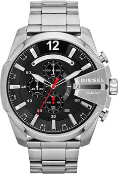 Diesel Watch, Men's Chronograph Mega Chief Stainless Steel Bracelet 59x51mm DZ4308