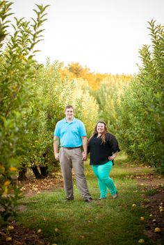 {Curvy Engagement} Rock Quarry and Apple Orchards in North Carolina