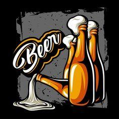 Cocktail Illustration, Beer Art, Beer Signs, Best Beer, Beer Brewing, Craft Beer, Rock N Roll, Poster, Drawings
