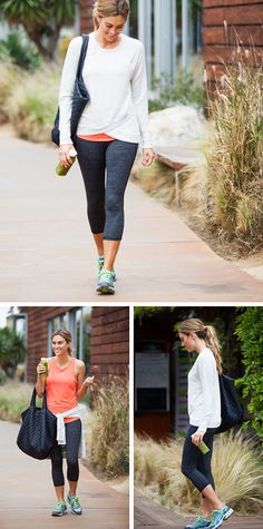 How To Wear Yoga Pants All Day | The Morning Stroll | Athleta Chi Blog #yogapants