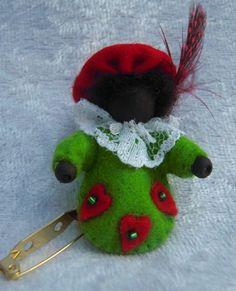 Zwarte Pietje Wool Felt, December, Santa, Seasons, Crafty, Dolls, Christmas Ornaments, Knitting, Holiday Decor