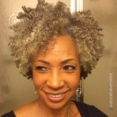 Check out @naturalsilversista's fabulous twist out! Gorgeous silver tresses