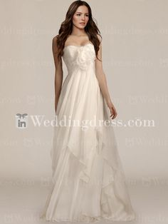 Elegant Summer Wedding Dress with Detachable Pin BC527