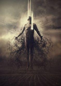 Soul leaving it's body..