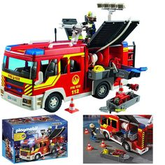 Playmobil  Fire Engine  With   Sound  And Lights  NEW 5363 Free 2 Day  Shipping #PLAYMOBIL