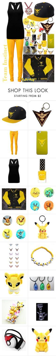 """""""Team Instinct; Pokemon Go"""" by lil-galaxy-princess ❤ liked on Polyvore featuring Valor, Ksubi, BKE, Loungefly, Hot Topic, Nintendo, Samsung and Chamilia"""