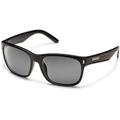 Suncloud Dashboard Polarized Sunglasses, Black Frame, Gray Lens