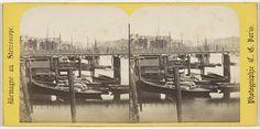 Charles Gerard | Hambourg (ville libre), Vue generale du Biennenhafen, Charles Gerard, 1860 - 1870 |