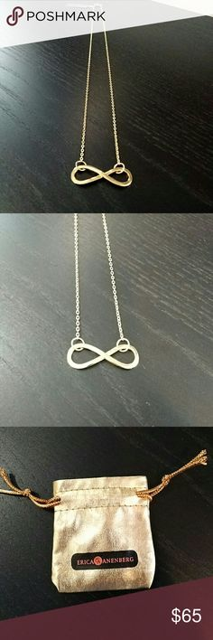 "Erica Anenberg Infinity Necklace NWT Erica Anenberg Infinity Necklace. Yellow gold. Chain length 10"". Great layering piece! Erica Anenberg Jewelry Necklaces"