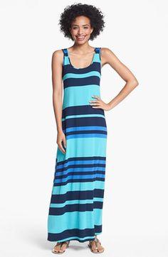variegated stripe maxi dress