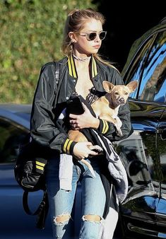 Her woman: The famously bisexual actress was spotted in Beverly Hills on Thursday with her current girlfriend, model Stella Maxwell, as the pair left a lunch date Kristen Stewart And Stella, Stella Maxwell, Satin Bomber Jacket, Models Off Duty, Rock Style, Girls Best Friend, Black N Yellow, Style Guides, Supermodels