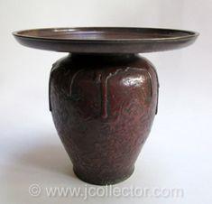 Japanese Bronze Usubata Ikebana Flower Vase - JO4N64