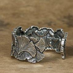 Jewelry   Bracelet   Ginkgo Leaf Cuff   Oberon Design