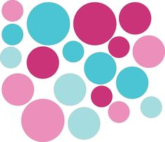 Reusable Spot Stickers Pink Turquoise Polka Dot Fabric Wall Sticker Decals Reusable Set of 19 Circles Pink Aqua Girls Bedroom Baby Room Blue And Pink Bedroom, Teal Rooms, Pink Bedroom Design, Pink Bedroom For Girls, Girls Room Design, Pink Bedroom Decor, Bedroom Ideas, Turquoise Walls, Bedroom Turquoise