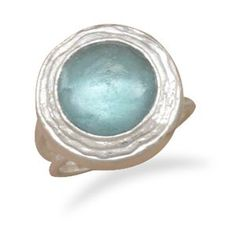 Textured sterling silver ring with ancient roman glass center stone. Stone measures This ring is available in whole sizes Sterling Silver Metal Jewelry, Sterling Silver Jewelry, 925 Silver, Jewelry Rings, Vintage Jewelry, Tear, Size 10 Rings, Blue Rings, Ancient Romans