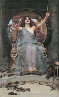 """""""Circe Offering the Cup to Odysseus, John William Waterhouse (1891)"""""""