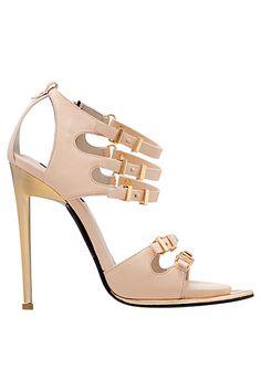 Roberto Cavalli. Nude strappy heels with buckles