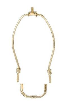 Regular Weight, Brass Plated Lamp Harps