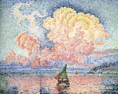artist-signac: Antibes the Pink Cloud via Paul SignacSize:...