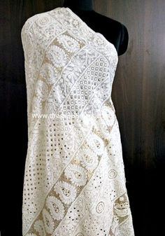 heavy chikankari saree, badla work saree online