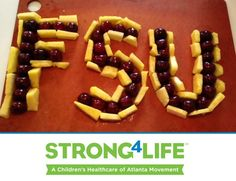 Are you cheering for the Noles this football season? Bring this edible masterpiece to your next Florida State tailgate! #Strong4Life