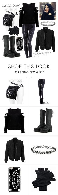 """Gothic Outfit"" by angelique-von-tod ❤ liked on Polyvore featuring Boohoo, LE3NO, Miss Selfridge, Casetify and Regatta"
