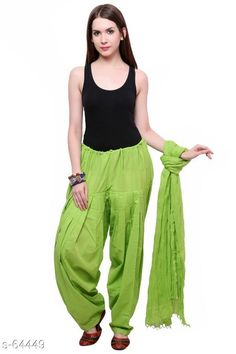Ethnic Bottomwear - Patiala Pants Trendy Cotton Patiala & Dupatta Set Fabric: Patiala - Cotton Dupatta - Cotton Waist Size: Patiala - Up to 28 in to 40 in (Free Size) Dupatta - 2.25 Mtr Length: Patiala - Up To 41 in Type: Stitched Description: It Has 1 Piece Of Patiala & 1 Piece Of Dupatta Pattern: Solid  Country of Origin: India Sizes Available: Free Size   Catalog Rating: ★4 (358)  Catalog Name: Frenzy of Patiala-2 CatalogID_6578 C74-SC1018 Code: 563-64449-9401