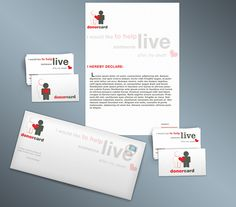 Donor Card by Spyros Thalassinos, via Behance