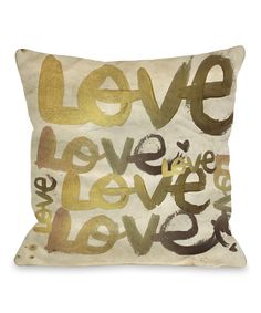 Four-Letter Word Throw Pillow by  #zulily #zulilyfinds