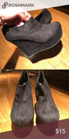Madden girl booties. Size 8! Black madden girl closed toe booties Madden Girl Shoes Wedges